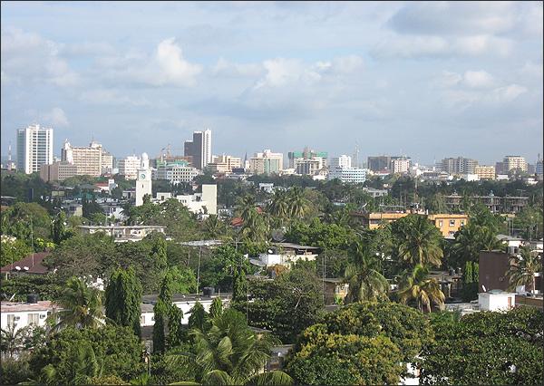 Dar Es Salaam Tanzania  city photos : Description: part of Dar es Salaam city, Tanzania capital city.